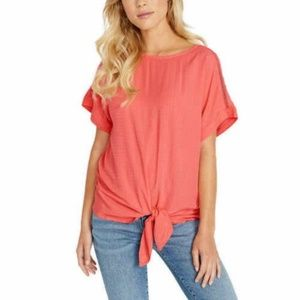 Buffalo Ladies' Tie Front Top Pink Coral 3X NWT